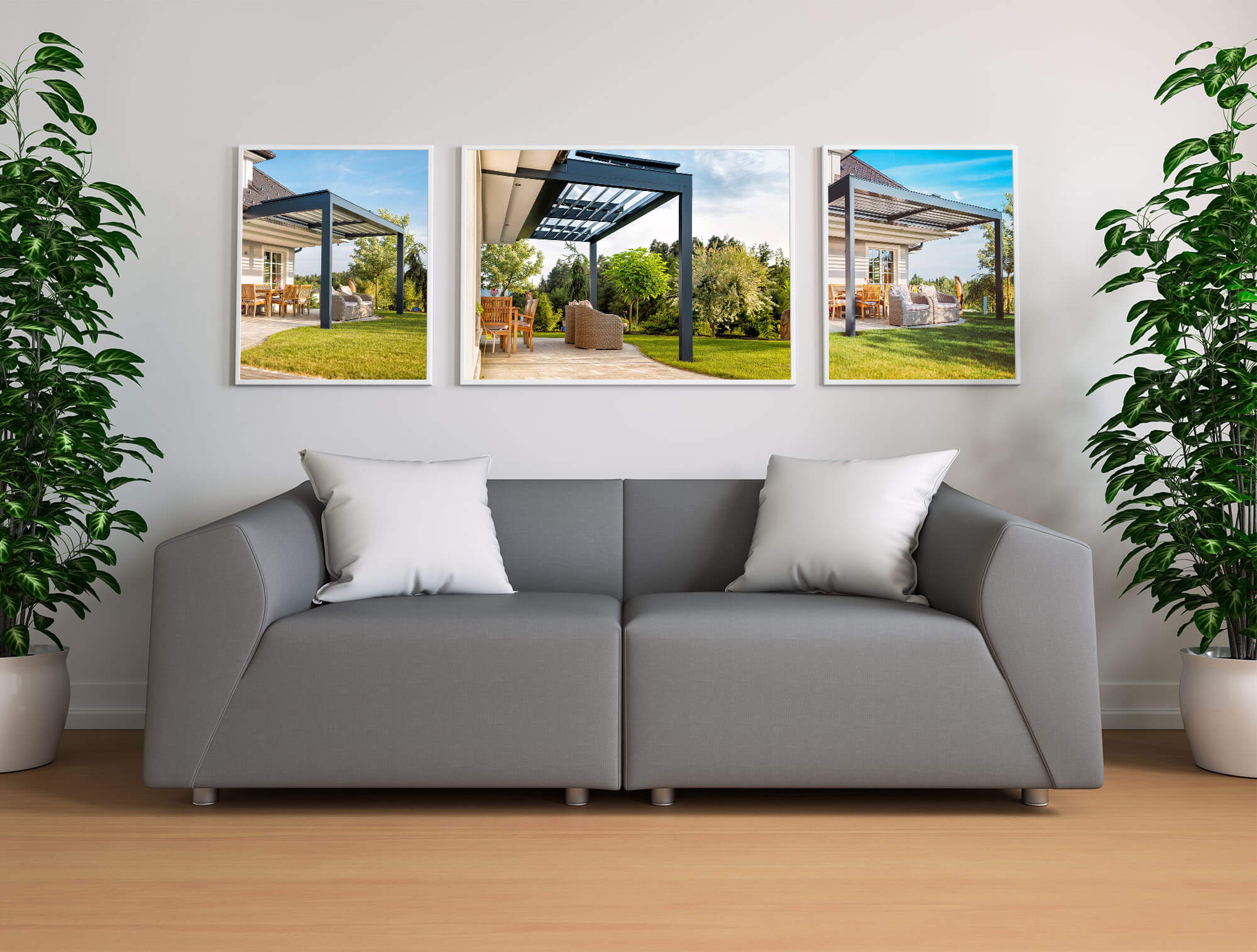 Relaxdach Büro Innenansicht mit Terrassenüberdachung-Bildern, die über uns erzählen