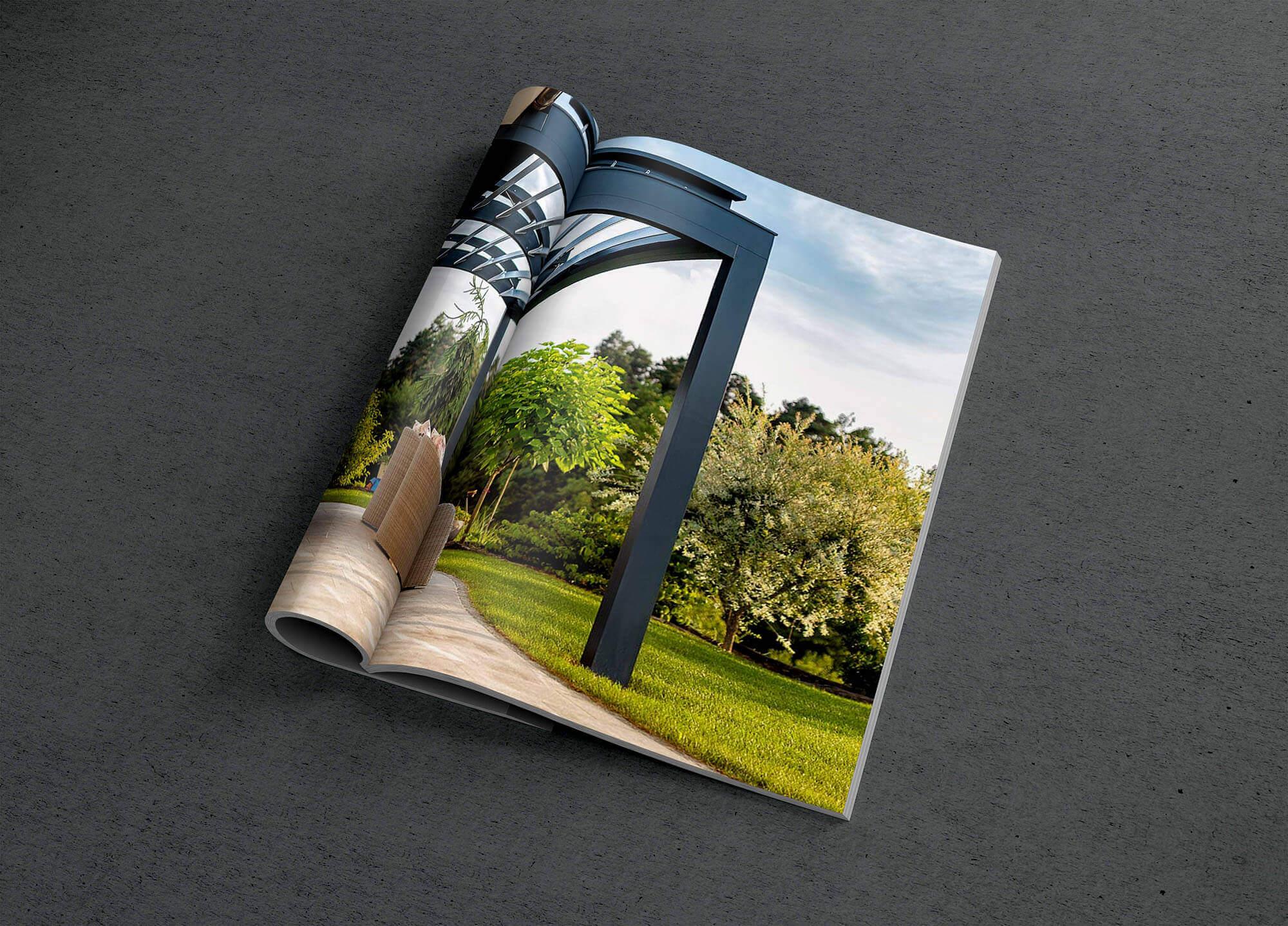 Magazin mit Terrassenüberdachung auf 2 Seiten