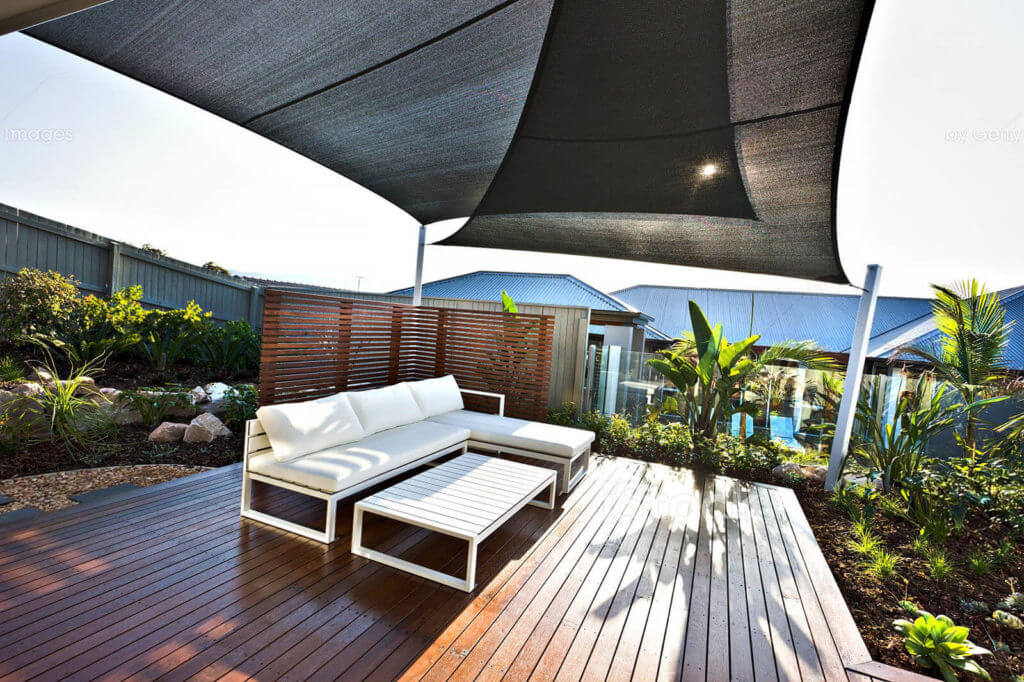 Sonnenschutz mit Tuch
